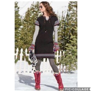 EUC Sundance Lapland Nordic Black sweater dress
